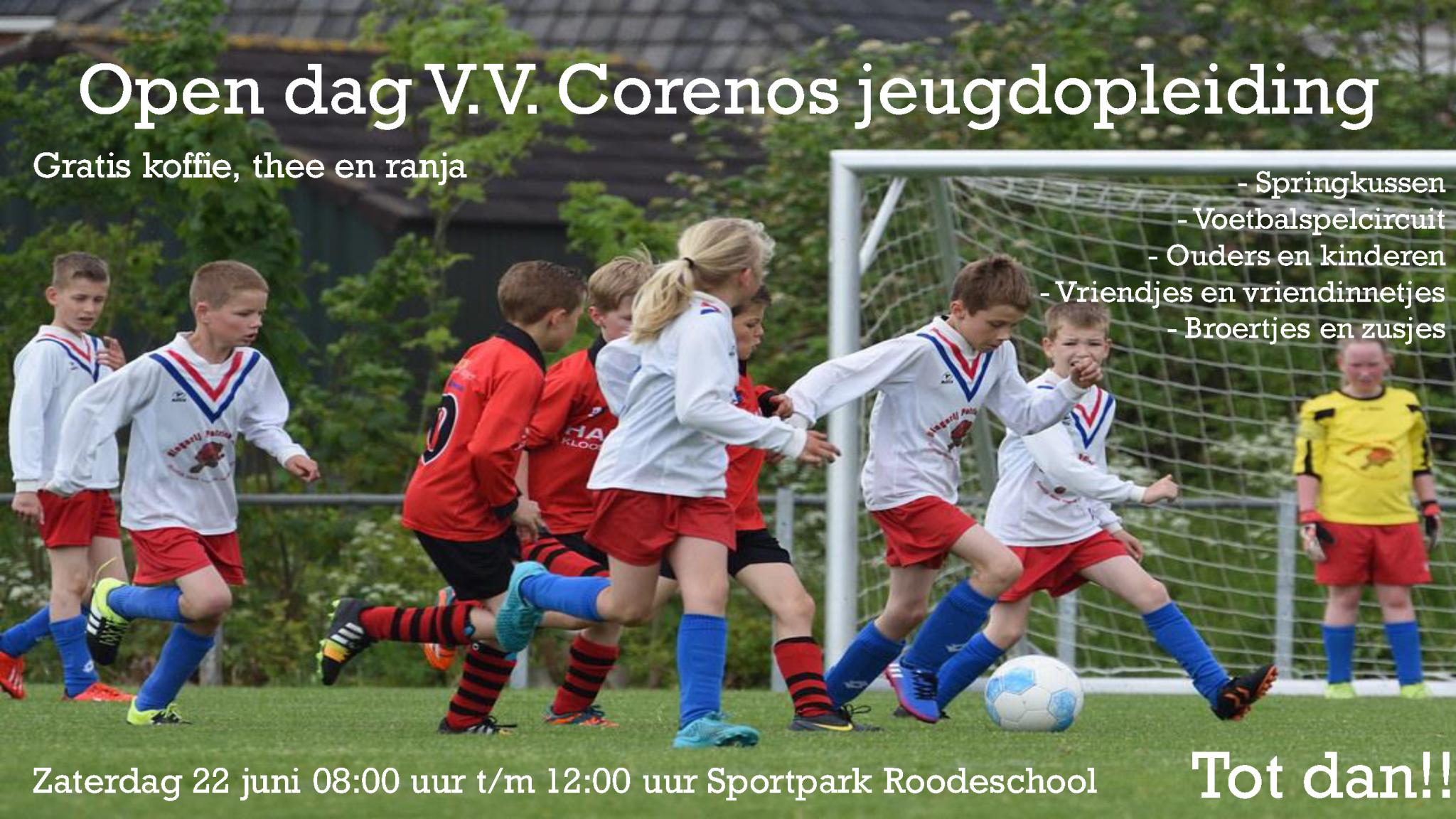 V.V. Corenos organiseert een open dag voor de jeugd