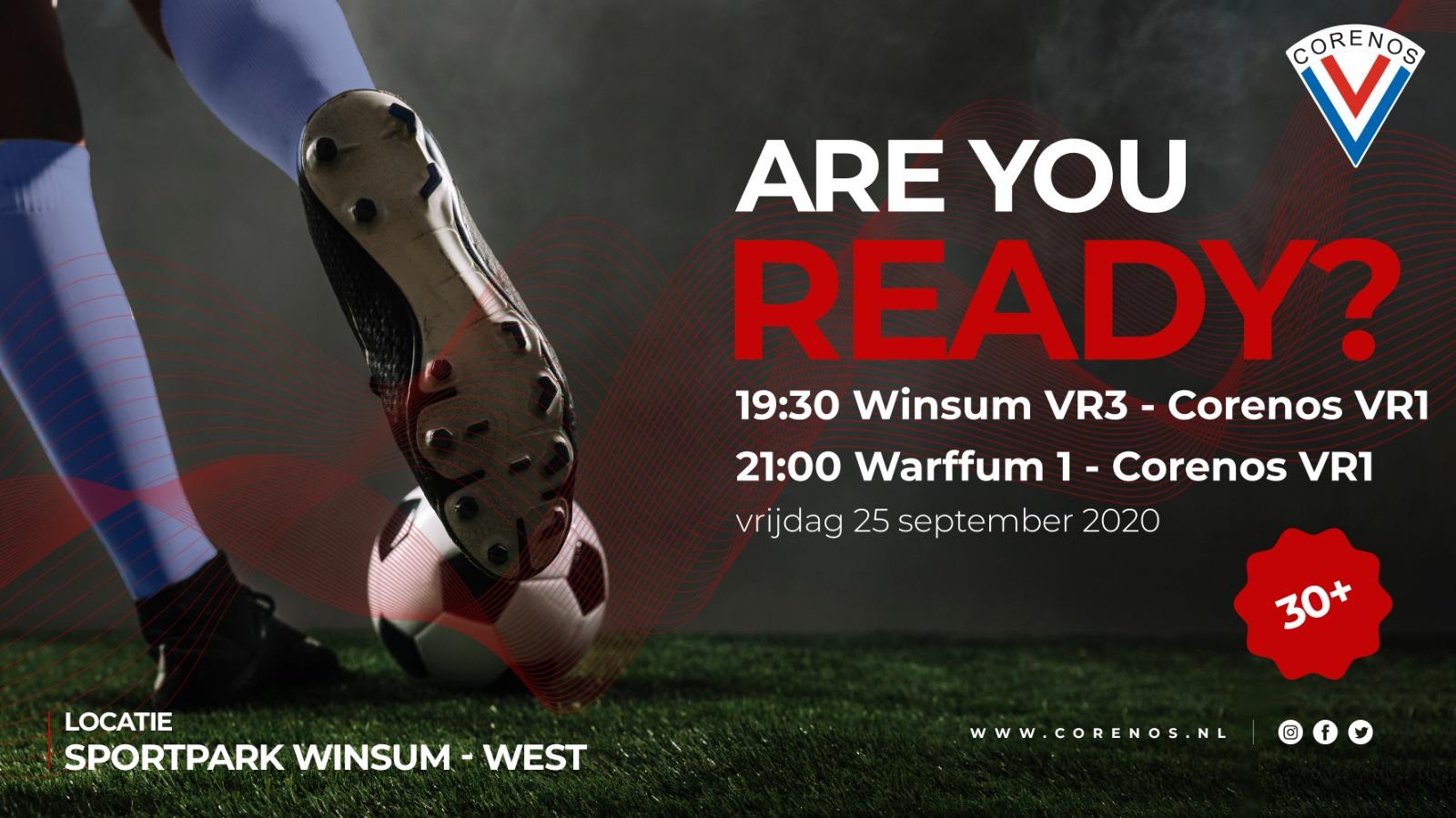 Matchday voor VR30  in Winsum!