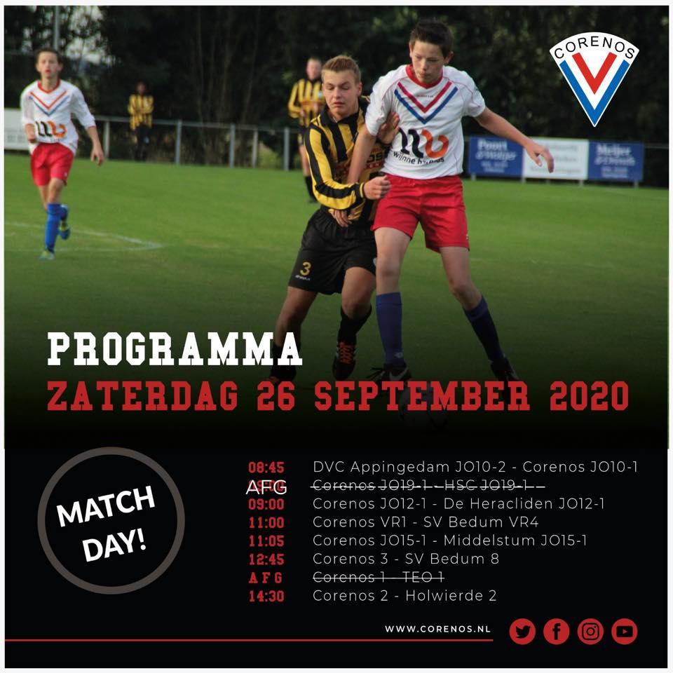 Programma 26 september