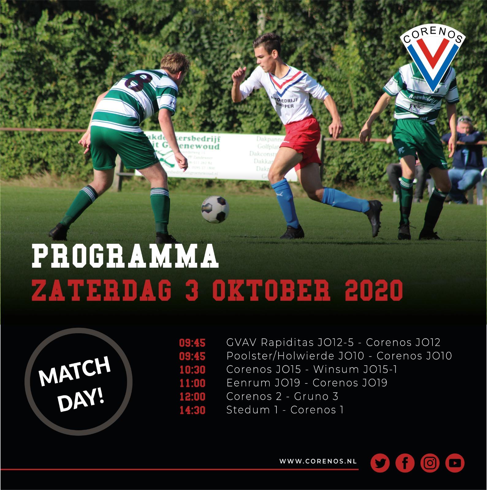 Programma 3 oktober